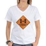 ISS / Work Women's V-Neck T-Shirt