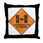 ISS / Work Throw Pillow