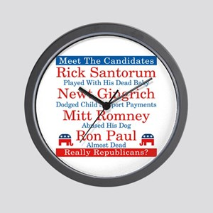 The Republican Candidates Are a Joke Wall Clock
