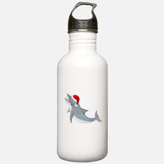 Santa - Dolphin Water Bottle
