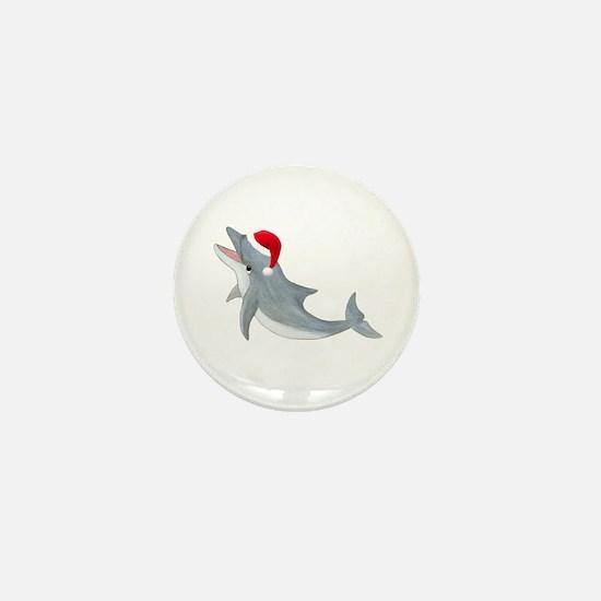 Santa - Dolphin Mini Button