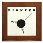 Pioneer Space Probe Framed Tile