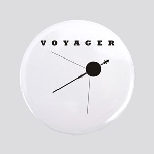 """Voyager Space Probe 3.5"""" Button"""
