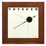 Voyager Space Probe Framed Tile
