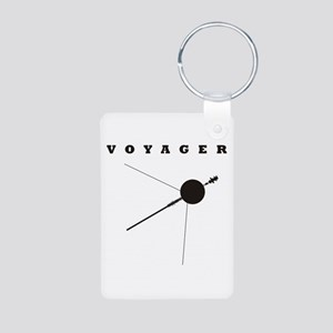 Voyager Space Probe Aluminum Photo Keychain