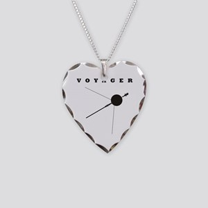 Voyager Space Probe Necklace Heart Charm