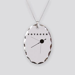 Voyager Space Probe Necklace Oval Charm