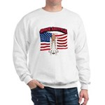 Space Shuttle and Flag Sweatshirt