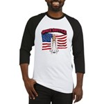Space Shuttle and Flag Baseball Jersey