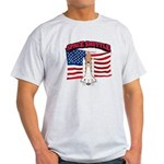 Space Shuttle and Flag Light T-Shirt