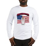 Space Shuttle and Flag Long Sleeve T-Shirt