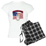 Space Shuttle and Flag Women's Light Pajamas