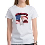 Space Shuttle and Flag Women's T-Shirt