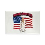 Space Shuttle and Flag Rectangle Magnet (10 pack)