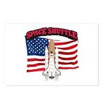 Space Shuttle and Flag Postcards (Package of 8)