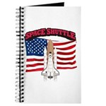 Space Shuttle and Flag Journal