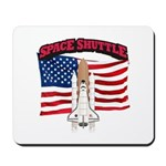 Space Shuttle and Flag Mousepad