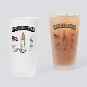 Space Shuttle History Drinking Glass