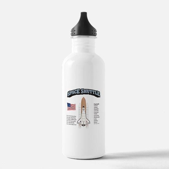 Space Shuttle History Water Bottle