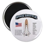 Space Shuttle History Magnet