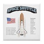 Space Shuttle History Tile Coaster
