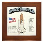 Space Shuttle History Framed Tile