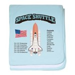 Space Shuttle History baby blanket