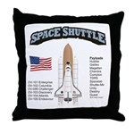 Space Shuttle History Throw Pillow