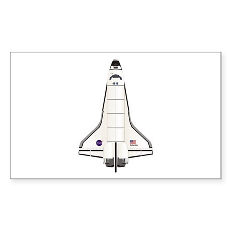 Shuttle Atlantis Sticker (Rectangle)
