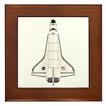 Shuttle Atlantis Framed Tile