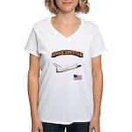 Shuttle Orbiter Women's V-Neck T-Shirt