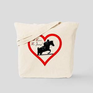 I Love to Jump! Horse Tote Bag