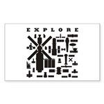 Space Telescopes Sticker (Rectangle)