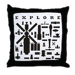 Space Telescopes Throw Pillow
