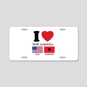 USA-ALBANIA Aluminum License Plate