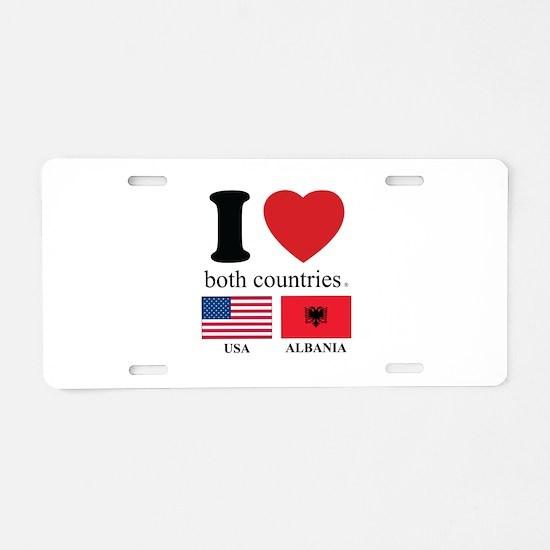USA-ALBANIA Aluminum License Plate