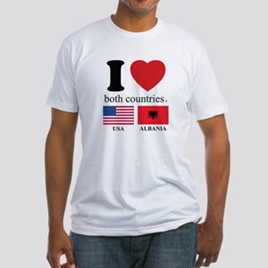 USA-ALBANIA Fitted T-Shirt