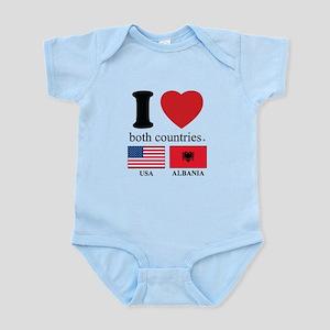 USA-ALBANIA Infant Bodysuit