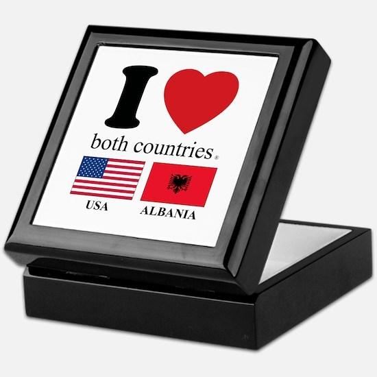 USA-ALBANIA Keepsake Box