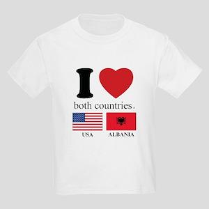USA-ALBANIA Kids Light T-Shirt
