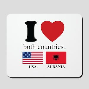 USA-ALBANIA Mousepad