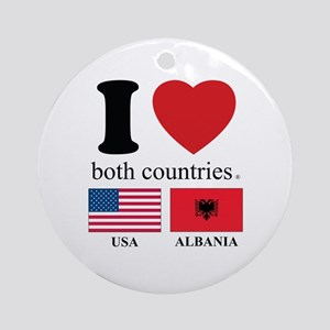 USA-ALBANIA Ornament (Round)