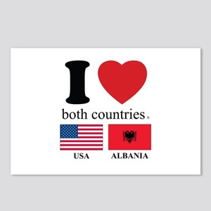 USA-ALBANIA Postcards (Package of 8)