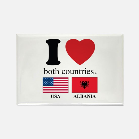 USA-ALBANIA Rectangle Magnet