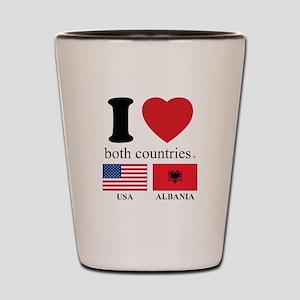 USA-ALBANIA Shot Glass
