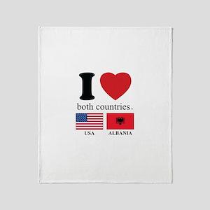 USA-ALBANIA Throw Blanket