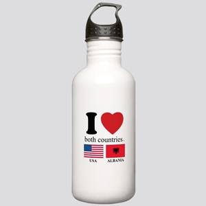 USA-ALBANIA Stainless Water Bottle 1.0L