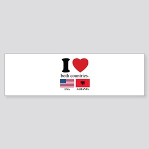USA-ALBANIA Sticker (Bumper)