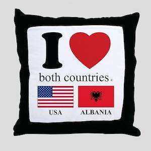 USA-ALBANIA Throw Pillow