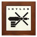 Skylab Silhouette Framed Tile